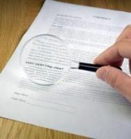 Лупа и документ