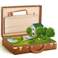 Коричневый чемодан