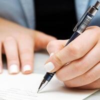 Черная ручка